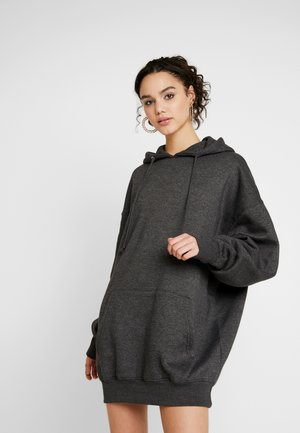OVERSIZED HOODED ROSEBUD DRESS - Kjole - dark grey
