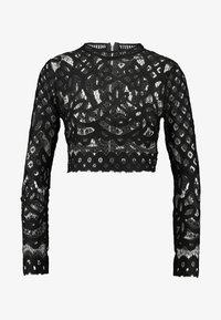 Missguided - HIGH NECK PATTERNED CROP - Maglietta a manica lunga - black - 4