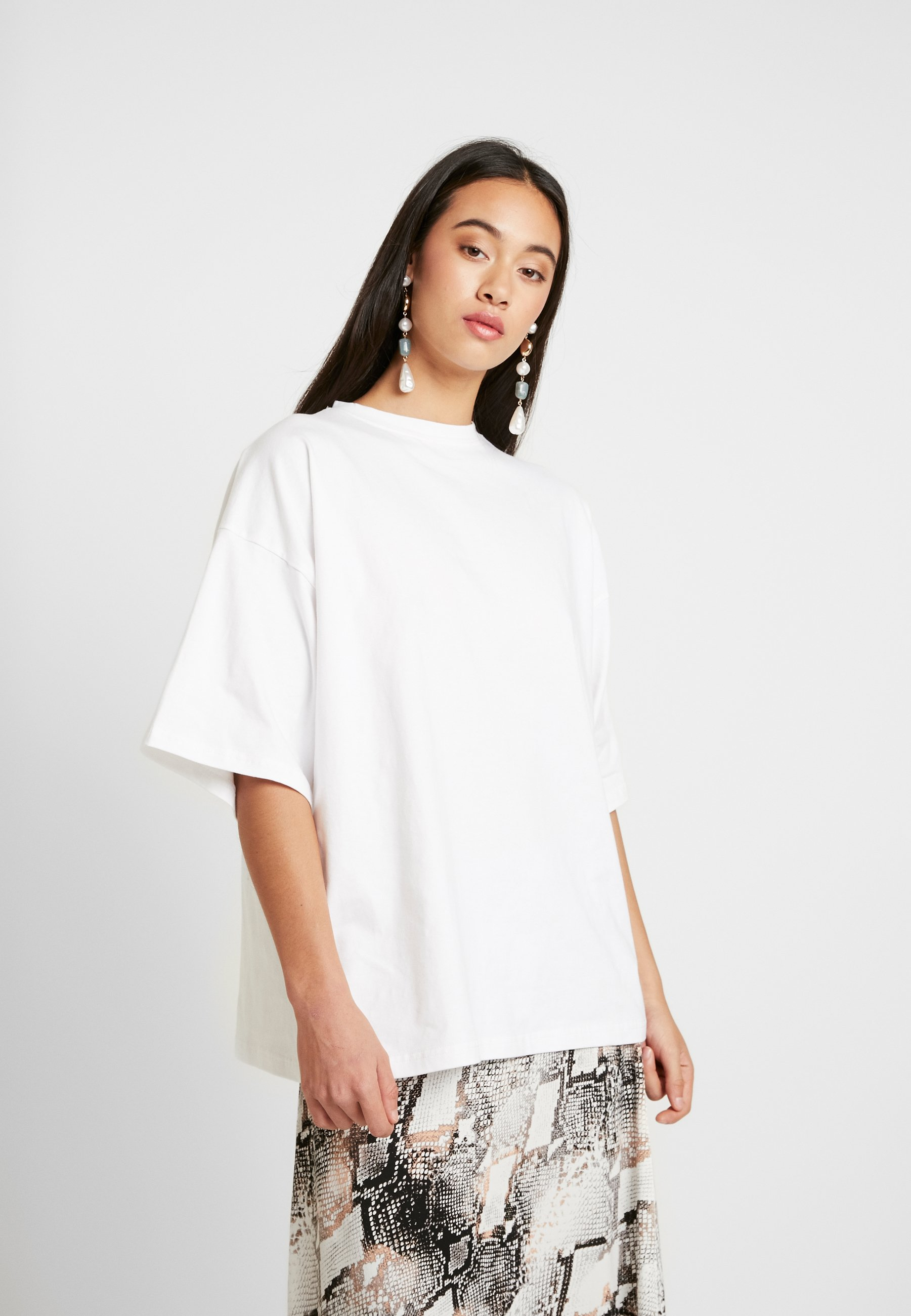 Missguided DROP SHOULDER - T-shirts - white