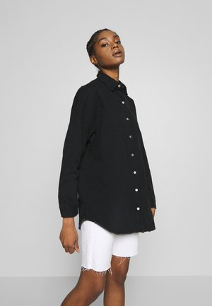 WASHED - Button-down blouse - black