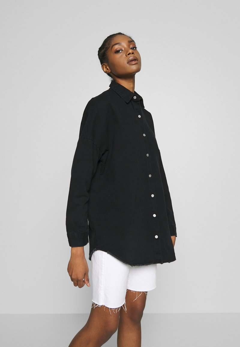 Missguided - WASHED - Skjorte - black