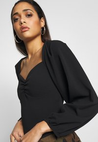 Missguided - EXTREME PUFF SLEEVE BODYSUIT - Blouse - black - 4