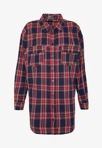 Missguided - BRUSHED BASIC CHECK SHIRT - Overhemdblouse - navy - 5