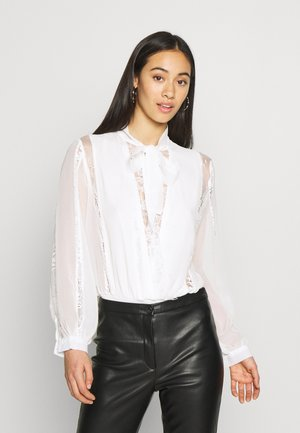 CHIFFON LACE TRIM BODYSUIT - Body - white
