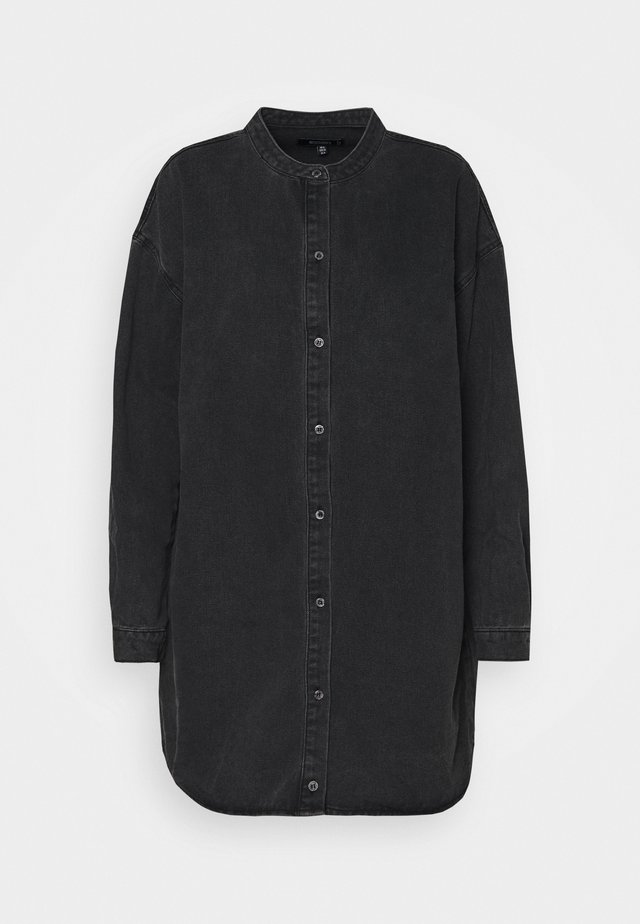 ROUND COLLAR DRESS - Jeanskjole / cowboykjoler - black