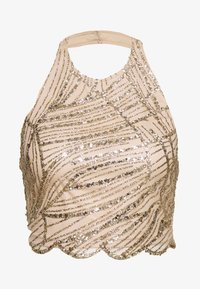 Missguided - HALTER NECK GLITTER - Top - gold - 0