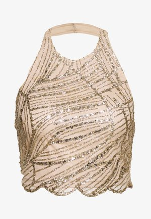 HALTER NECK GLITTER - Top - gold