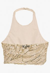 Missguided - HALTER NECK GLITTER - Top - gold - 1