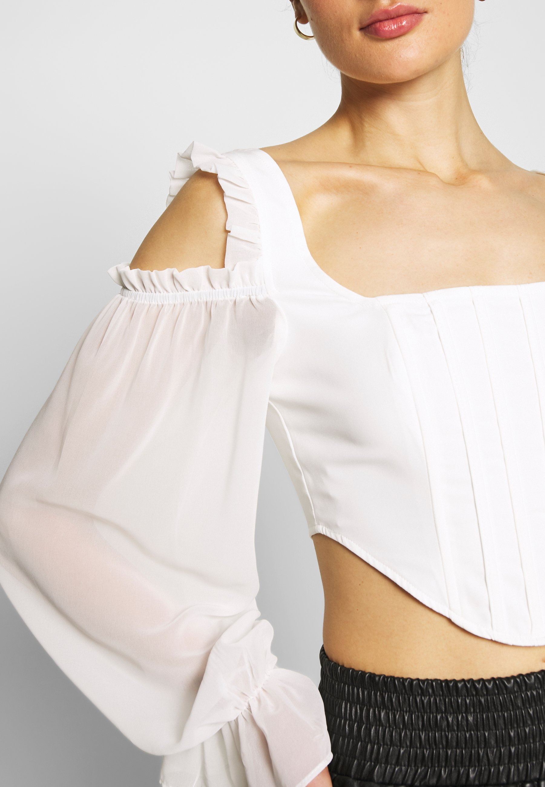 Missguided COLD SHOULDER CORSET - Bluser - white
