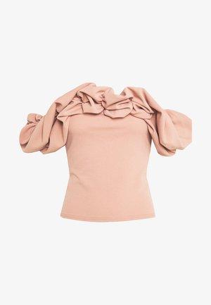 RUFFLE NECK BARDOT - Bluser - pink