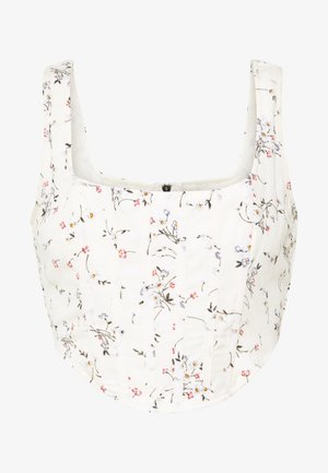 FLORAL CORSET CROP - Top - cream