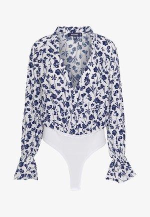 FLORAL PLUNGE - Bluse - white