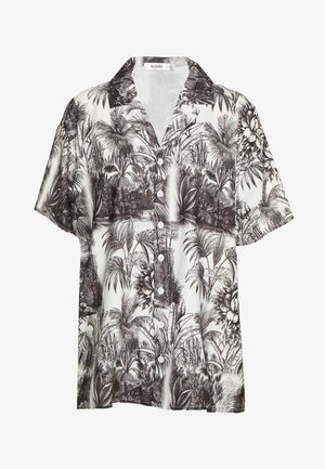 LEAF PRINT OVERSIZED - Bluser - white