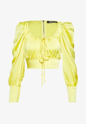 SQUARE NECK - Blouse - yellow
