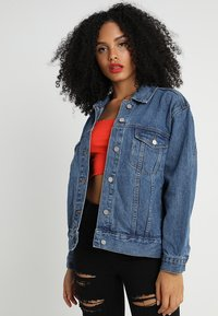 Missguided - OVERSIZED  - Denim jacket - vintage - 0