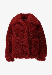 Missguided - BOXY SHAGGY BORG JACKET - Zimní bunda - red - 4