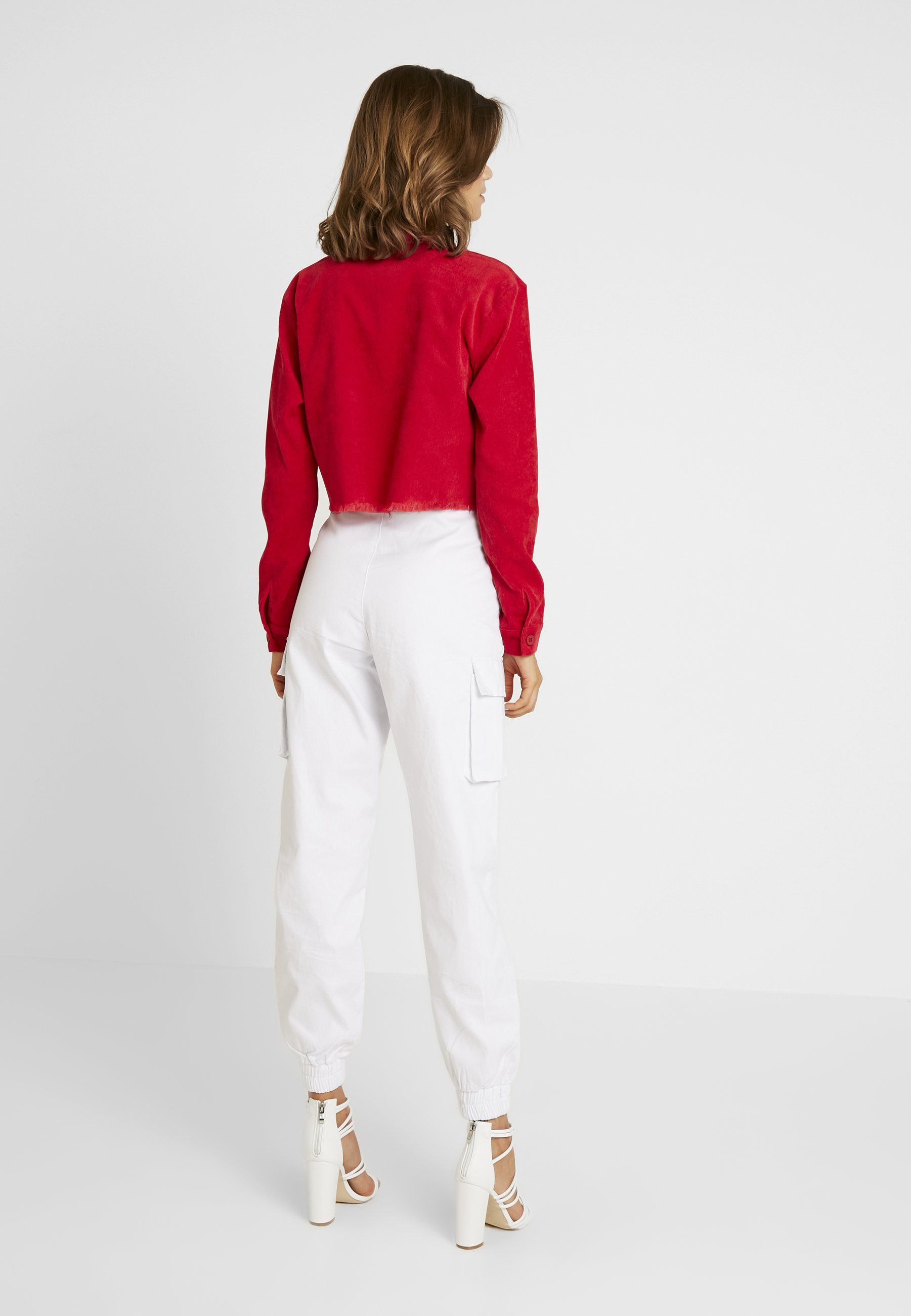 Légère Frayed Cropped Missguided Red HemVeste 2EDHIW9