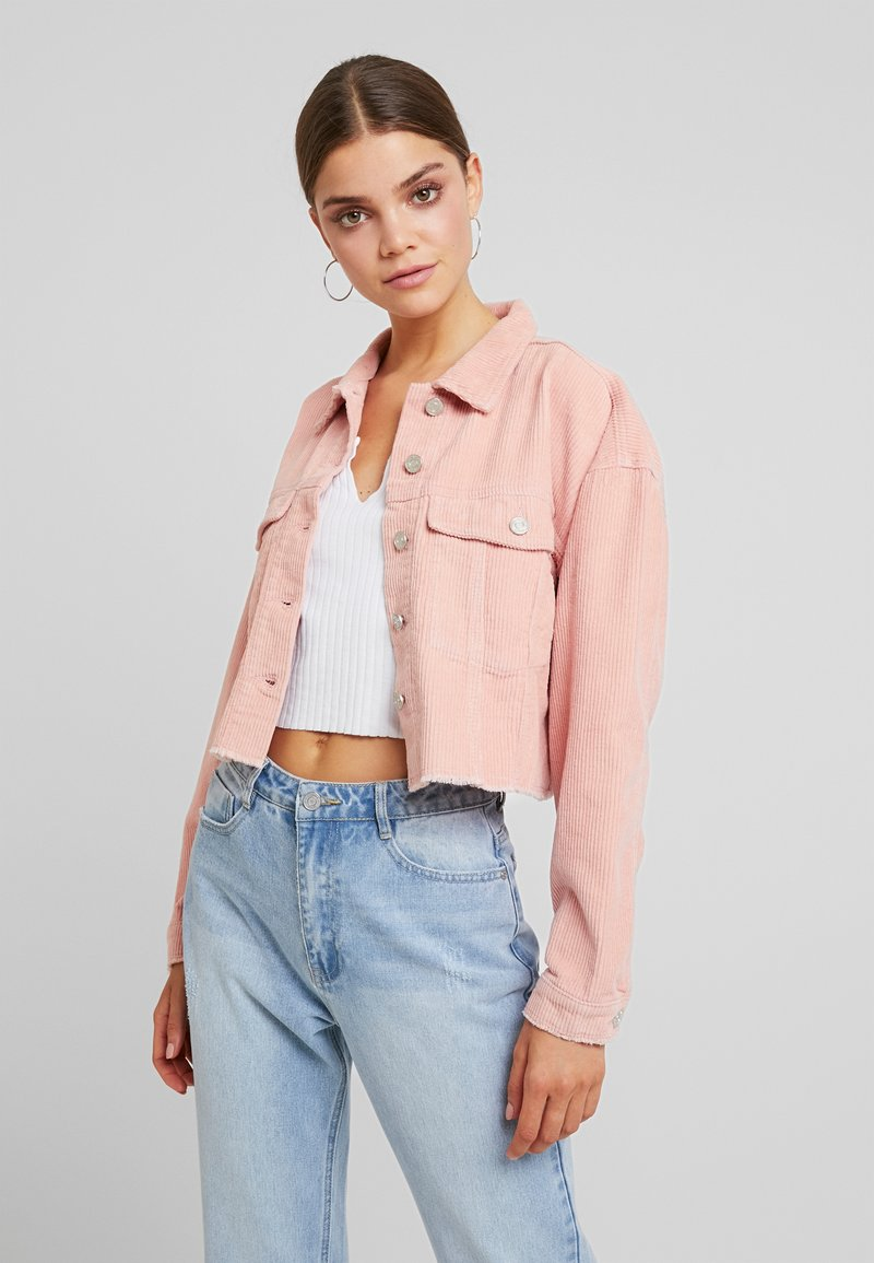 Missguided - CROPPED JACKET - Giacca leggera - pink