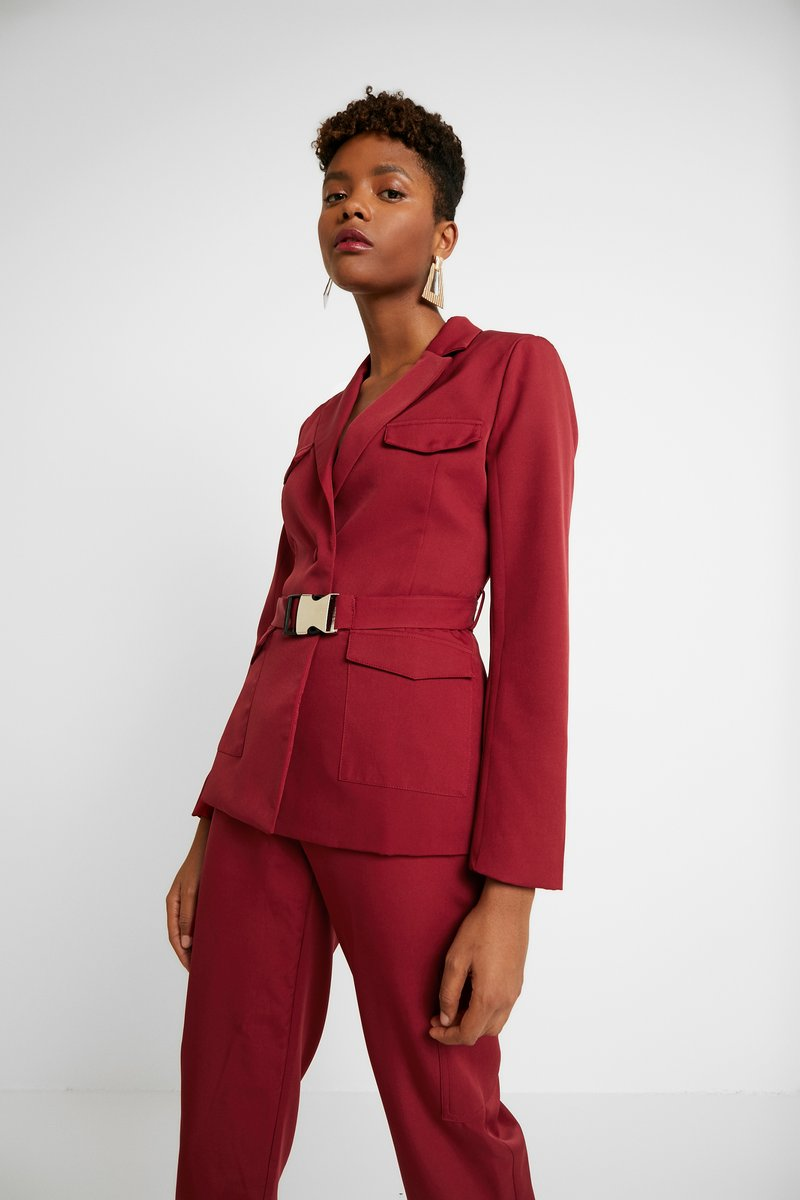Missguided - BELTED - Blazer - red