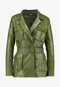 Missguided - UTILITY POCKET - Giacca in similpelle - deep green - 4