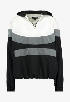 PULL ON REFLECTIVE ZIP UP JACKET WITH HOOD - Training jacket - black