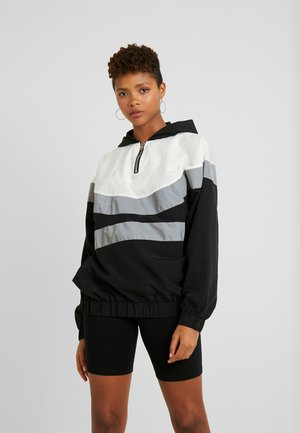 PULL ON REFLECTIVE ZIP UP JACKET WITH HOOD - Sportovní bunda - black