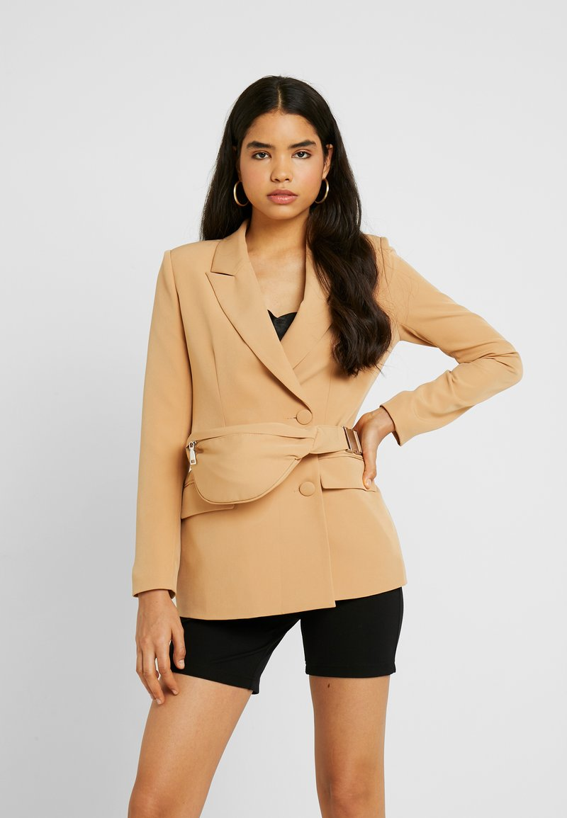 Missguided - DOUBLE BREASTED BUMBAG - Blazer - camel