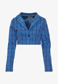 Missguided - HAYDEN WILLIAMS CHECK CROPPED TAILORED JACKET - Blazer - blue - 3