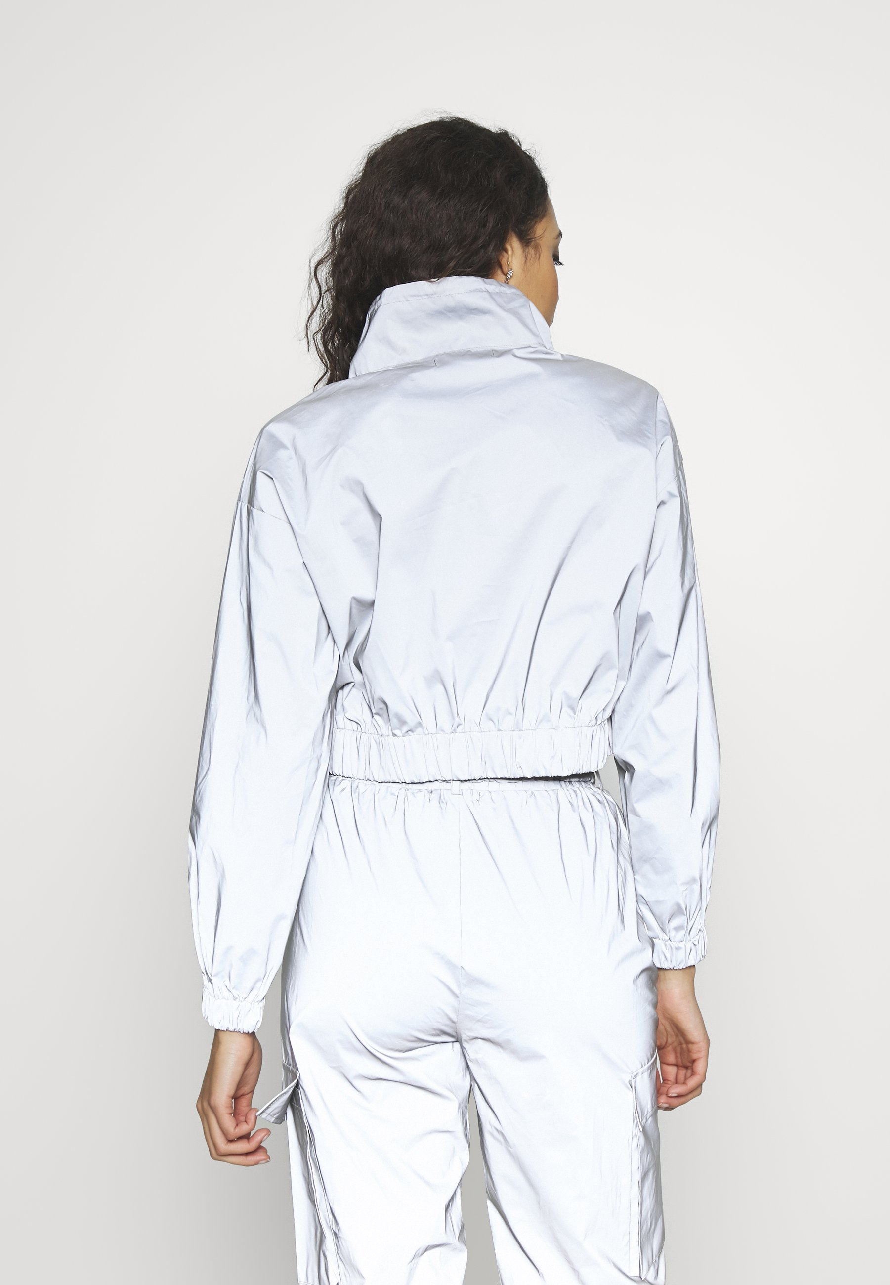 Missguided Code Create Reflective Jacket - Giacca Leggera Grey eugj7