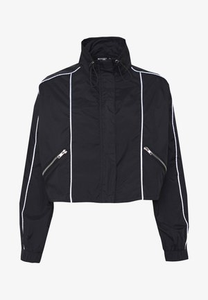 CODE CREATE CROPPED JACKET WITH REFLECTIVE PIPING - Training jacket - black
