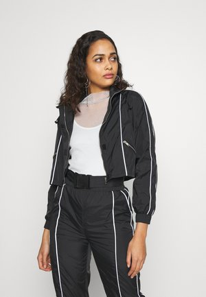 CODE CREATE CROPPED JACKET WITH REFLECTIVE PIPING - Treningsjakke - black