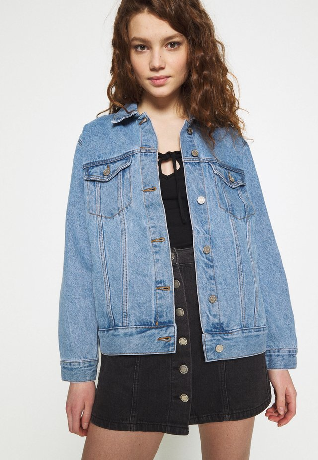 OVERSIZED JACKET - Jeansjacka - blue