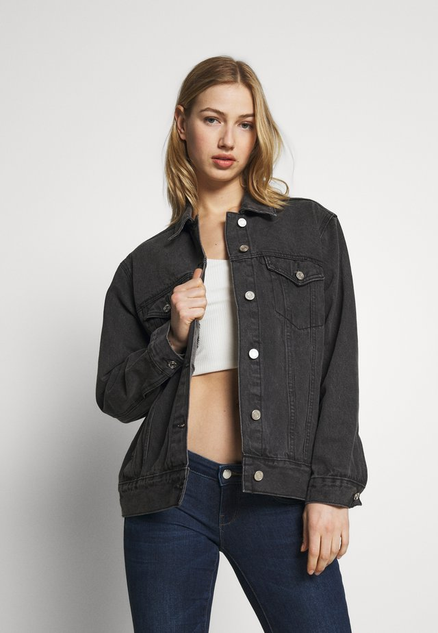 OVERSIZED JACKET - Jeansjacka - black