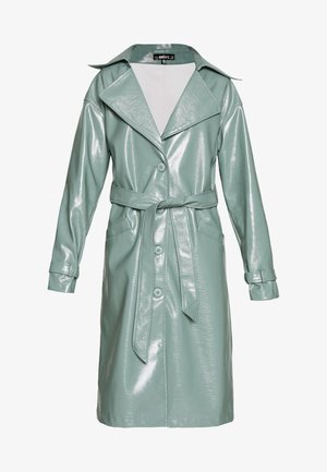TEXTURED TRENCH - Prochowiec - green