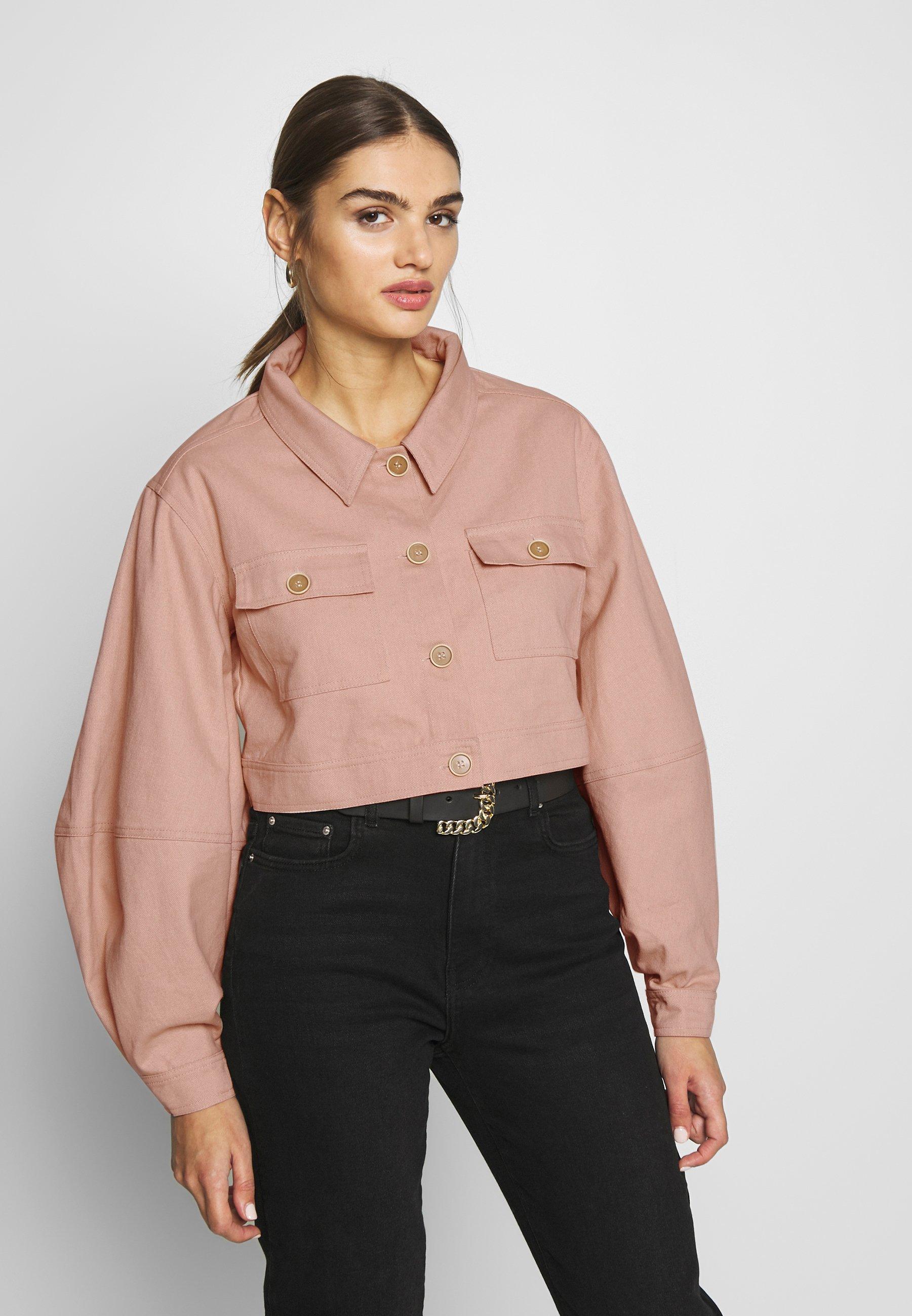 Missguided BALLOON SLEEVE SHACKET - Jeansjakke - blush