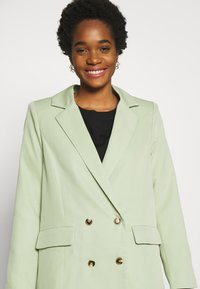 Missguided - OVERSIZED BUTTON - Blazer - mint green - 3