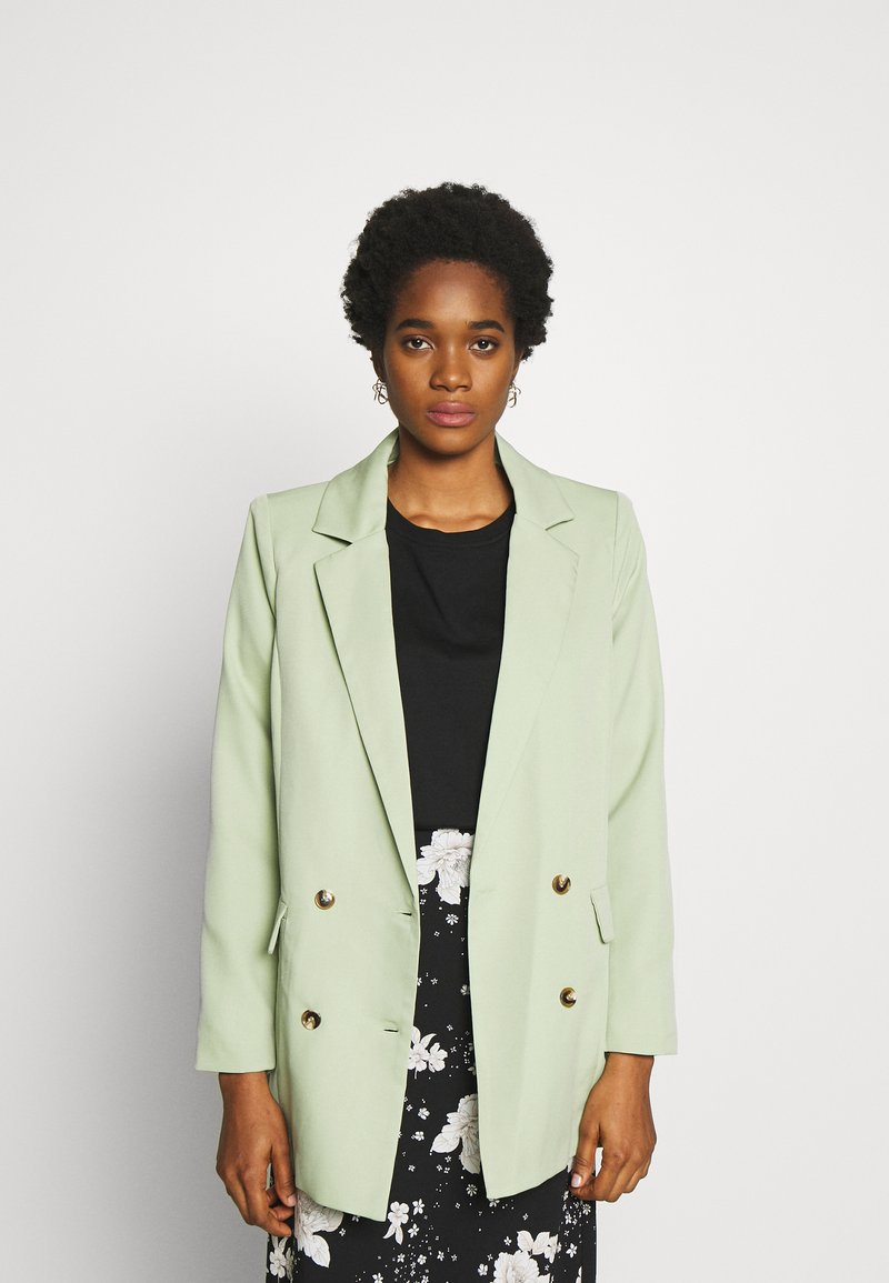 Missguided - OVERSIZED BUTTON - Blazer - mint green