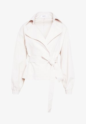 CROPPED BELTED - Summer jacket - cream