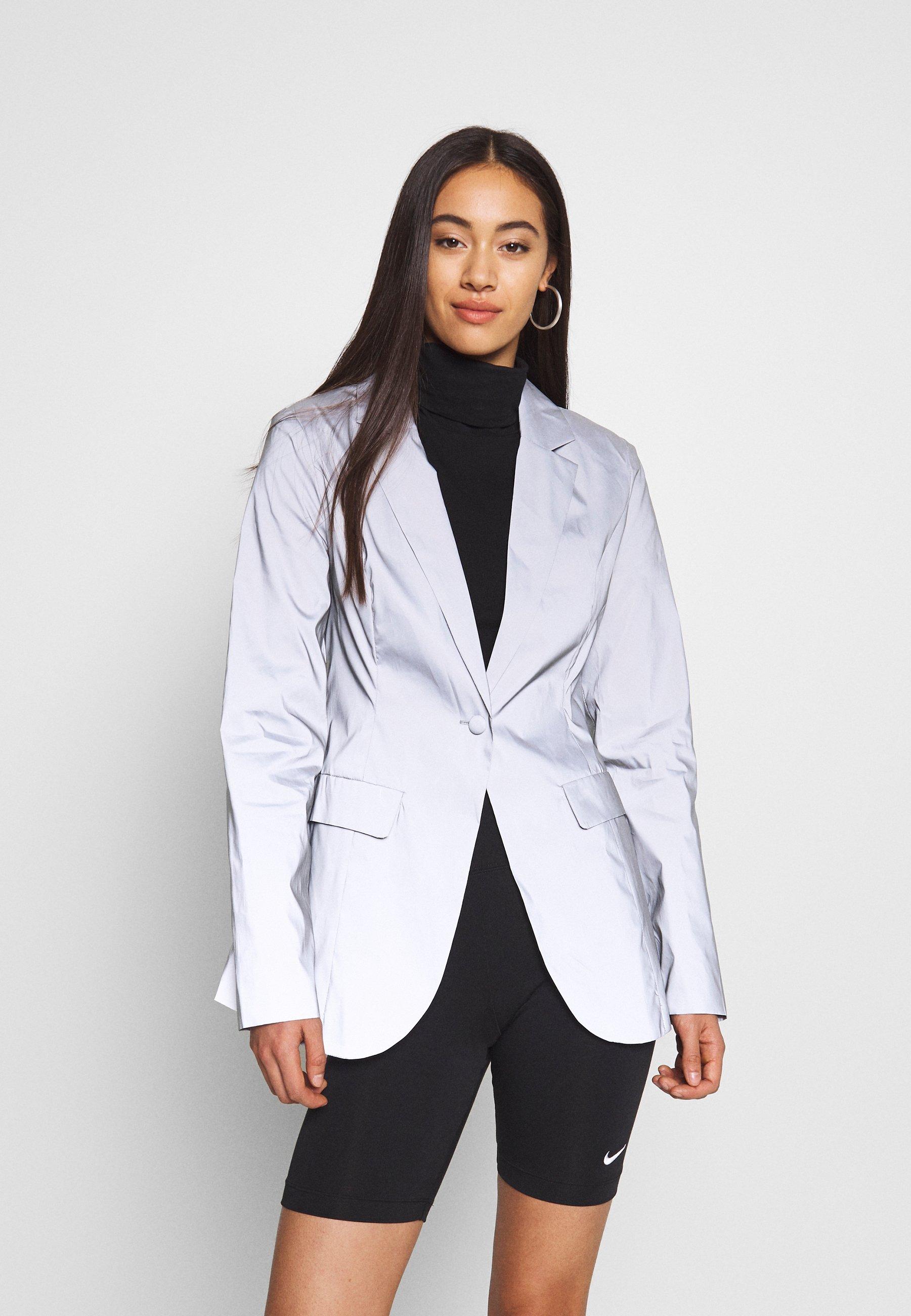 Missguided REFLECTIVE TAILORED - Blazer - grey