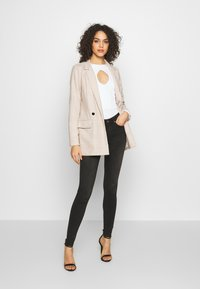 Missguided - PRINCE OF WALES CHECK - Blazer - stone - 1