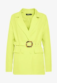 Missguided - MOCK TORTOISESHELL BELTED JACKET - Blazer - lime