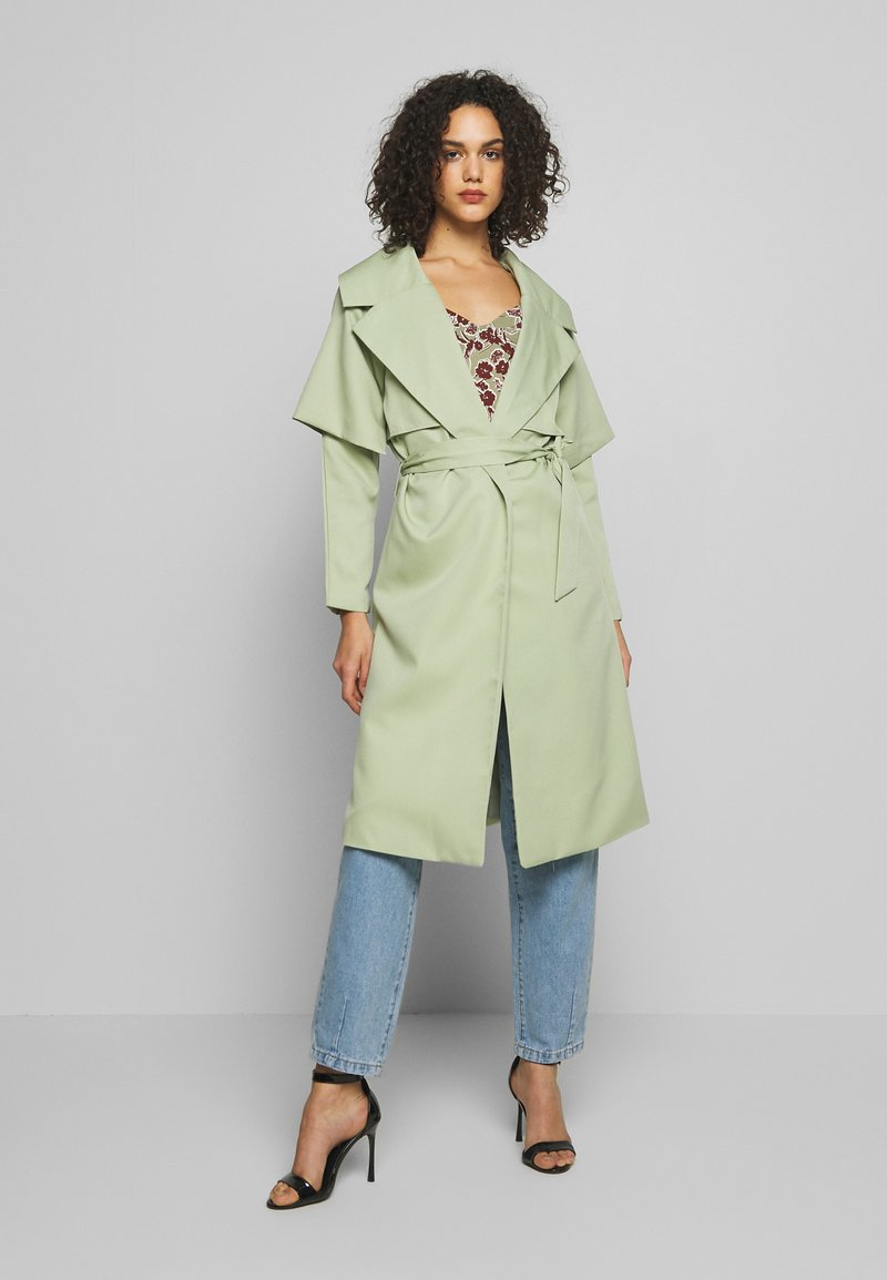 Missguided - WATERFALL COAT - Trench - mint