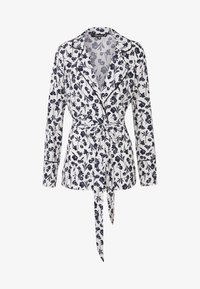 Missguided - FLORAL BELTED JACKET - Summer jacket - white - 3