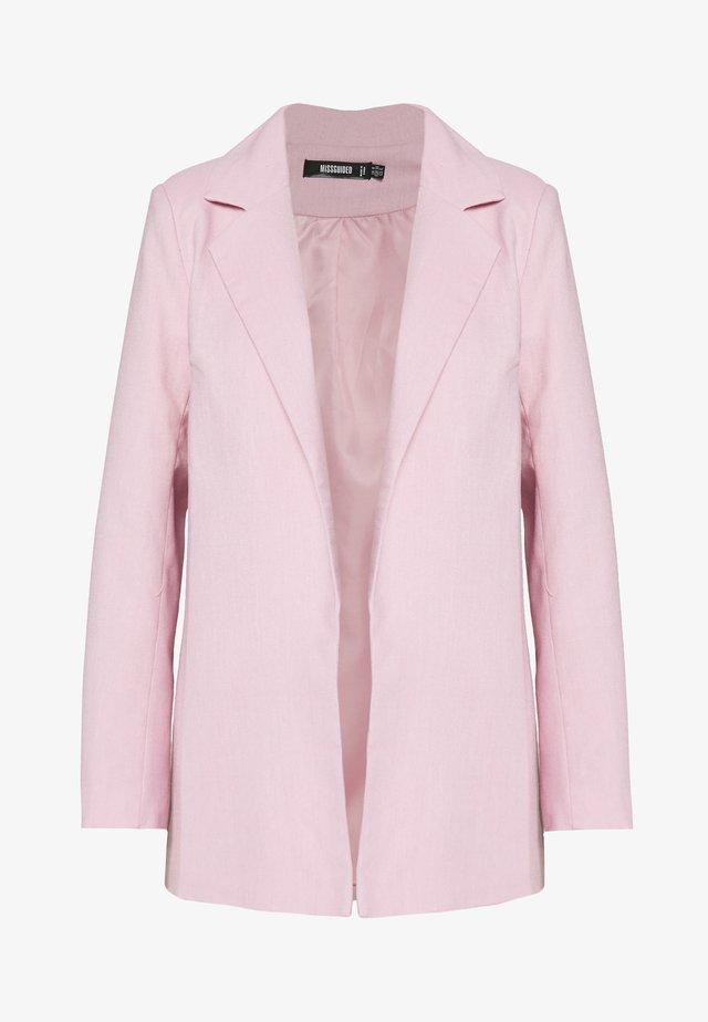 LINEN BOYFRIEND BLAZER - Blazer - pink linen