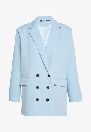 OVERSIZED GRANDAD - Short coat - baby blue