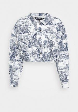 DELFT PRINT STRETCH CROPPED JACKET - Kurtka jeansowa - blue