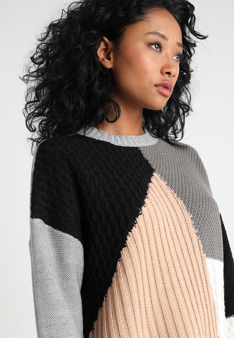 Missguided COLOUR BLOCK CREW NECK JUMPER - Pullover grey