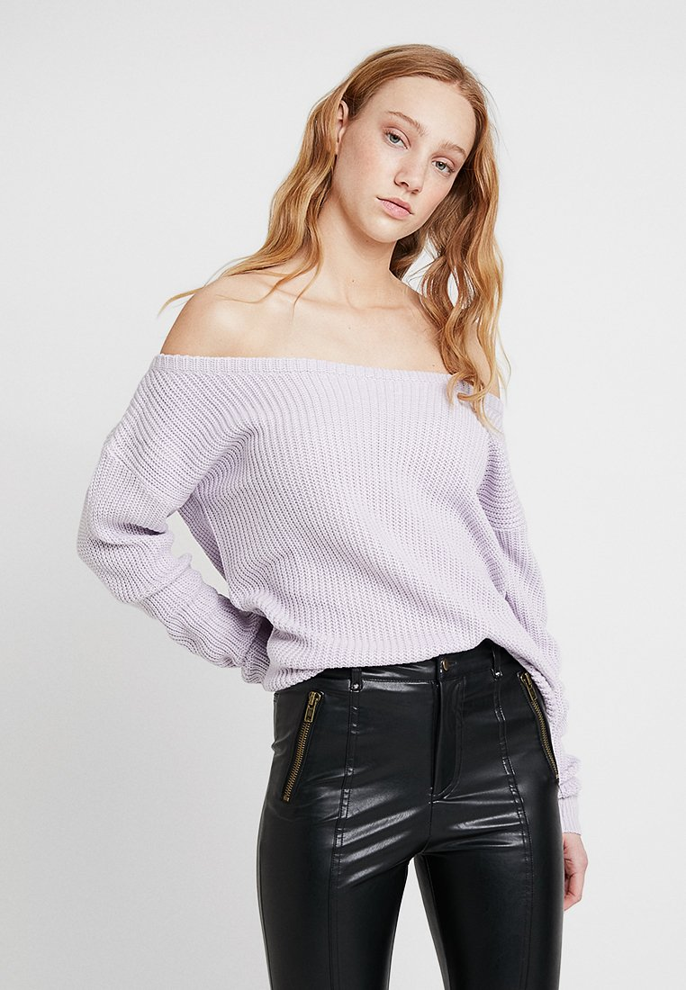 Missguided - OPHELITA OFF SHOULDER JUMPER - Maglione - lilac
