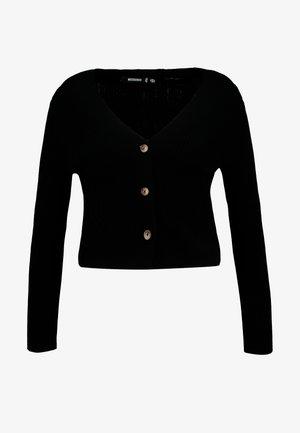 SKINNY CROPPED CARDIGAN - Cardigan - black