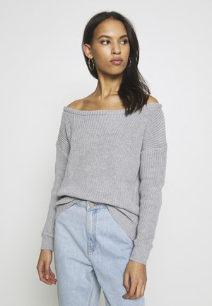 OPHELITA OFF SHOULDER JUMPER - Pullover - grey